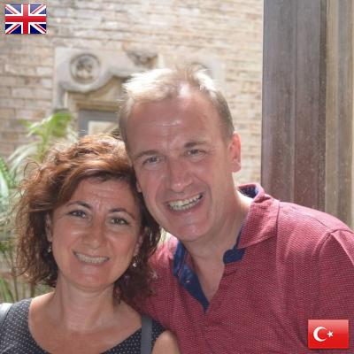 Phil from the United Kingdom and İlknur from Turkey