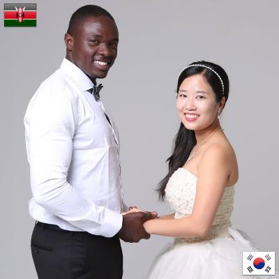 James from Kenya and Lily from South Korea